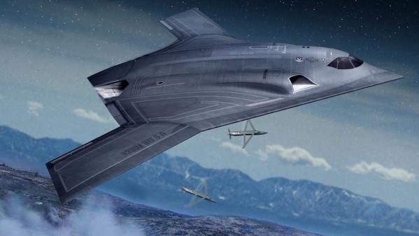 The next-generation Long Range Strike aircraft concept.