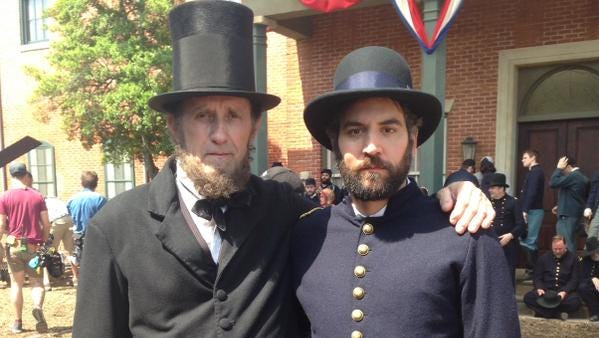 "David Foster and Josh Radnor (from ""How I Met Your Mother"") in ""Mercy Street."""
