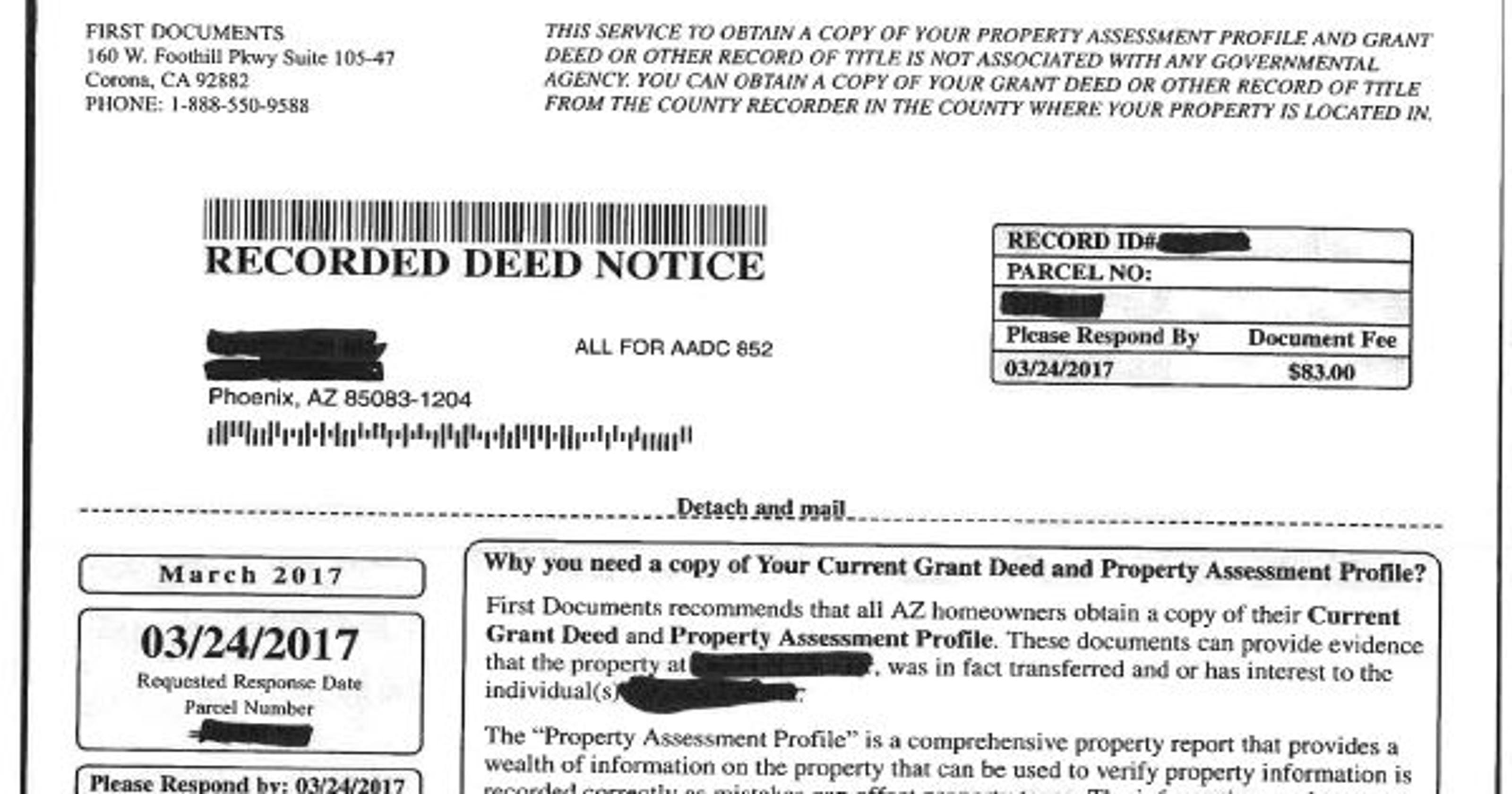 Maricopa County homeowners: Watch out for this property-deed