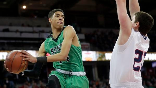 Oshkosh North's Tyrese Haliburton is the Oshkosh Northwestern All-Area boys basketball player of the year.