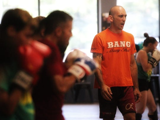 Train, Fight, Win owner Sky Rudloe teaches an MMA class