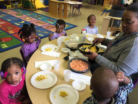 At the Winston Development Centers Head Start, nutritious meals are served family style.