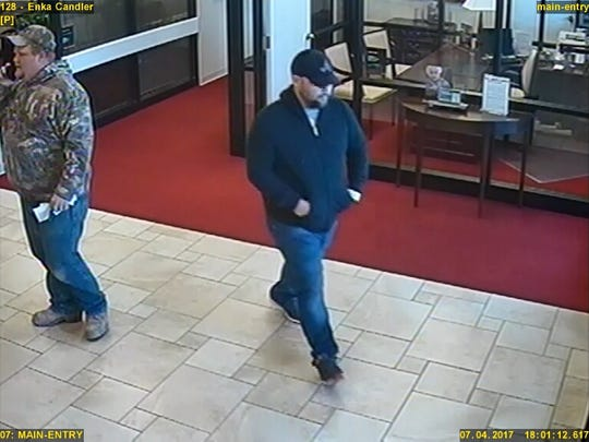 City police are searching for a man who robbed the First Citizen Bank on Smokey Park Highway in Candler on April 7.