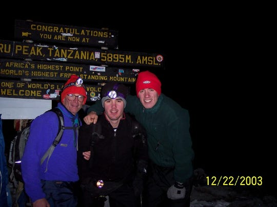 Mount Kilimanjaro was the first peak Zander, Anders and Drew Blewett summited together.