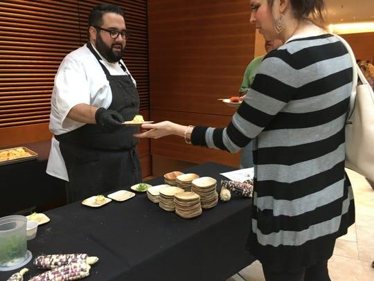 Dan Bonanno, the chef behind A Pig in a Fur Coat, prepares