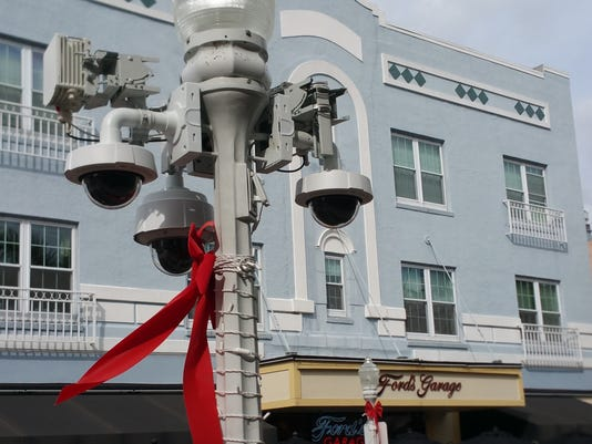 Downtown security cameras