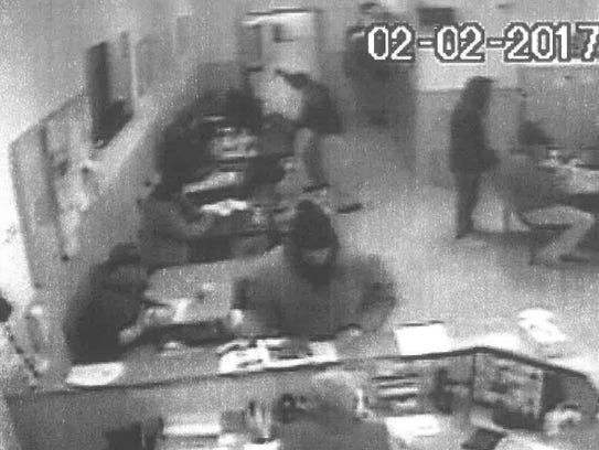 A still image from video surveillance at the Great