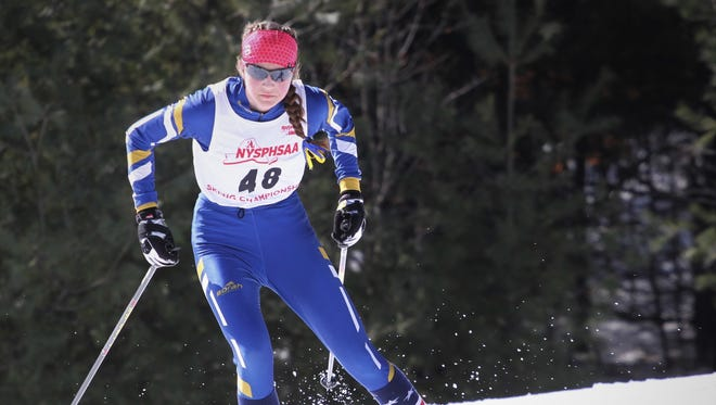 Brighton's Grace Mattern skiing at the Nordic championships at Gore Mountain.