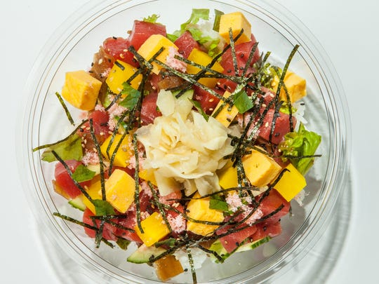 One of the poke dishes at Poke Crew in Englewood