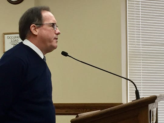 David Crum of the Great Falls Public Schools Foundation speaks to the House Taxation Committee at the state Capitol.