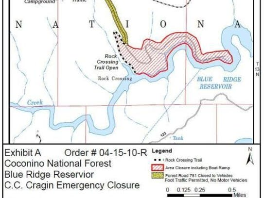 A map depicts closures in the Payson area related to