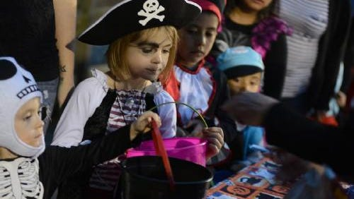 Families participate in a past GoblinFest at Simpsonville's Heritage Park.