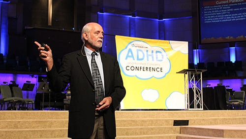 Russell Barkley, PhD, speaks to a crowd at the 12th Annual ADHD Conference Oct. 22, hosted by Hattiesburg Clinic Connections.