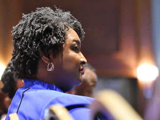 Georgia gubernatorial candidate Stacey Abrams before