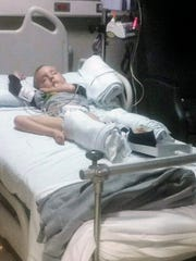 "A photo of Michael ""Ty"" Schmidt Jr at Norton Children's Hospital."