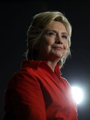 Democratic presidential nominee former Secretary of State Hillary Clinton during a campaign rally in Youngstown, Ohio, on July 30, 2016.