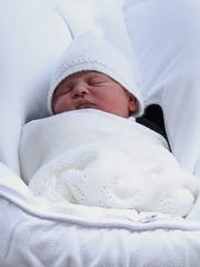 The new baby prince of Cambridge, as yet unnamed, born
