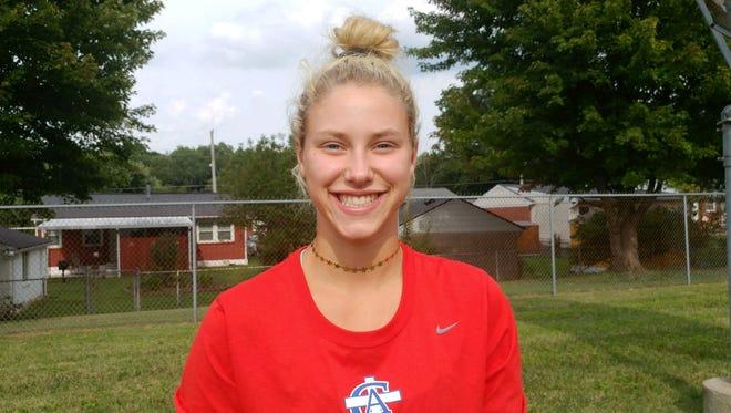 CAL field hockey standout Jacquelyn Wilkins.
