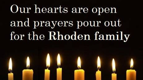 An image of support for the Rhoden family from the Orchard Hill United Church of Christ in Chillicothe.