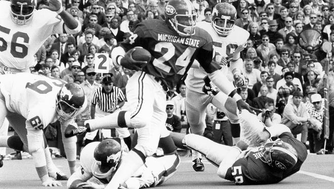 Eric Allen still holds the MSU single-game rushing record, rushing for 350 yards against Purdue in 1971.