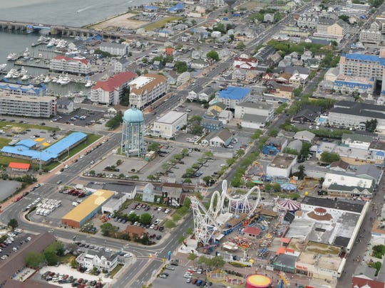 An arial shot of Ocean City on June 15, 2016.
