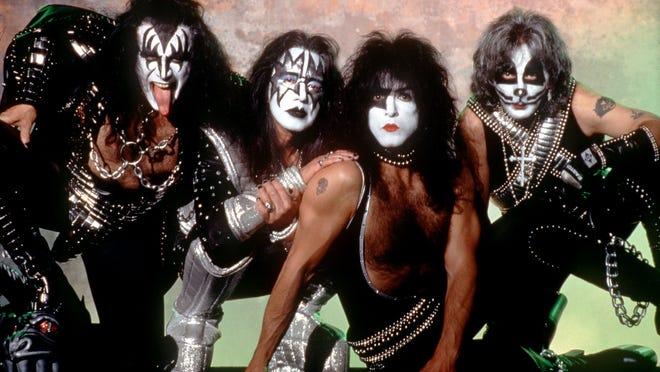 DATE TAKEN: 1996---Rock band Kiss :  Gene Simmons, left, Ace Frehley, Paul Stanley, Peter Criss. ORG XMIT: UT20626