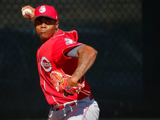 Cincinnati Reds relief pitcher Raisel Iglesias (26)