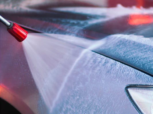 carwash with high pressure cleaner