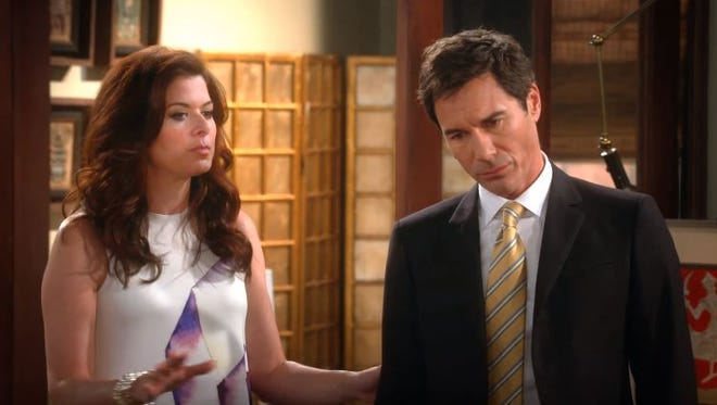 """""""Will & Grace"""" stars Debra Messing, Eric McCormack, Megan Mullally and Sean Hayes reunited in character for a nearly 10-minute video released Monday."""