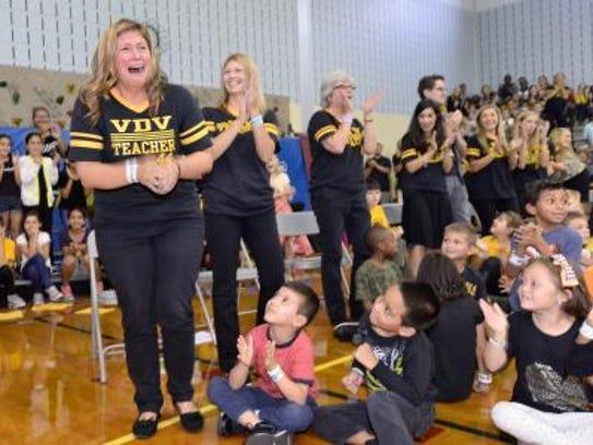 Van Derveer School second-grade teacher Lindsay Frevert