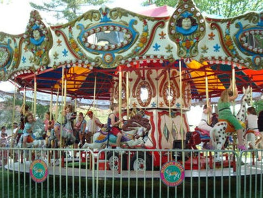 Rides are popular with youngsters at St. Gertrude's