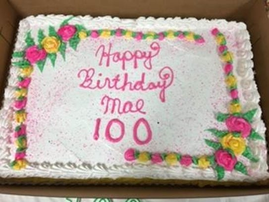 A party with over 100 guests marked Mae Grigonis' 100th