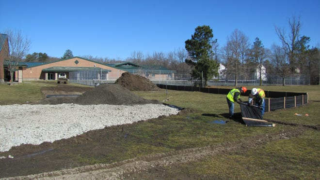 Contractors broke ground on the addition of two classrooms at Selbyville Middle School on Thursday, March 12.