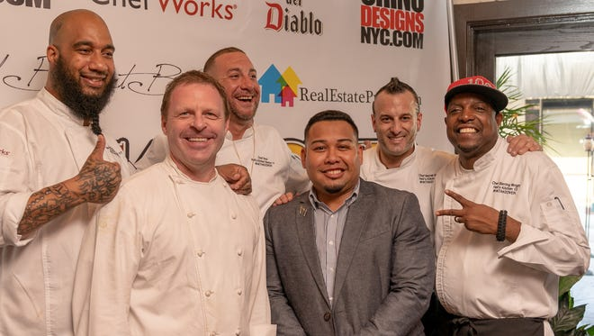 From left to right, Milly Medley, Allen Fisher, Bret Hauser, Rafael Feliciano, Barret Beyer and Sterling Wright at the Hell's Kitchen Takeover Event at Bistro 41 in Fort Myers on May 3, 2018.