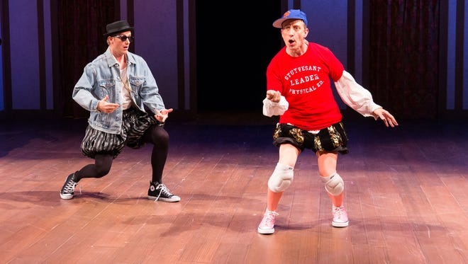 Josh Carpenter and John Zak star in the Delaware Theatre Company's 'The Complete Works of William Shakespeare (abridged) [Revised].'
