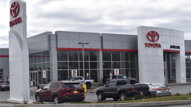 A video purportedly shows an Orthodox Jewish man being denied service on Monday morning at Johnstons Toyota's auto service center in New Hampton. {DANIEL AXELROD/TIMES HERALD-RECORD]