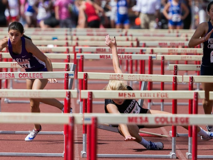 Pima's Jessica Sherwood   wins the Division IV 100