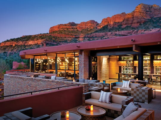 The patio at View 180 at Enchantment Resort in Sedona.