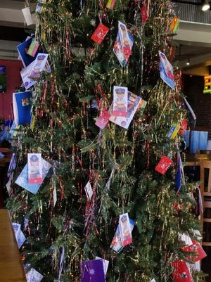 The Salvation Army's Angel Tree is up at Fuzzy's Taco Shop, 4310 Vine, waiting for people to pick a tag and purchase the requested gift for a child in Ellis County. New, unwrapped gifts must be returned to Fuzzy's by Friday, Dec. 18.
