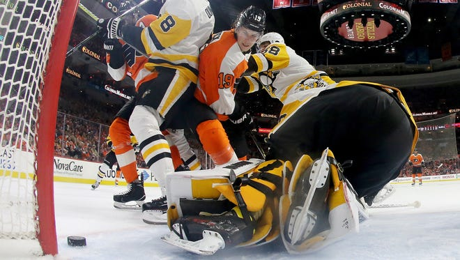 Nolan Patrick and the Flyers are hoping to keep their season alive with a win Sunday against the Penguins.
