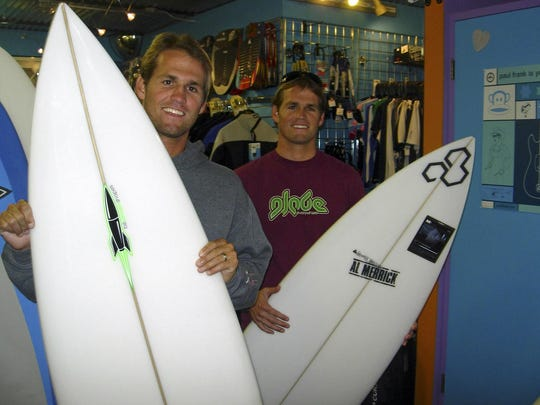 CJ and Damien Hobgood of Satellite Beach each won four major events on the world surfing tour.