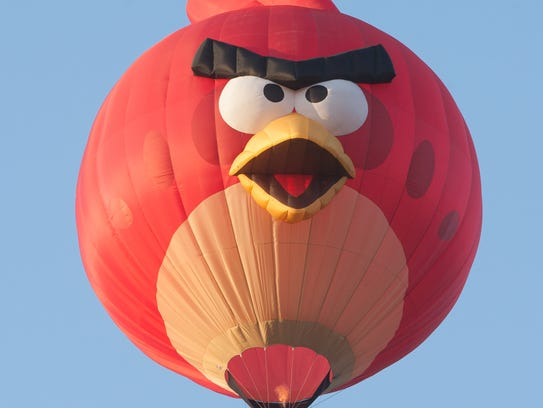 The 85-foot-tall Angry Bird balloon.