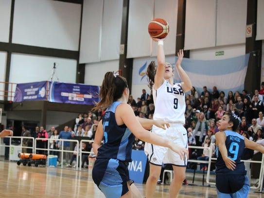 Dowling's Caitlin Clark competed with the USA women's