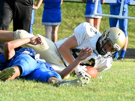 Buffalo Gap at R.E. Lee scrimmage football