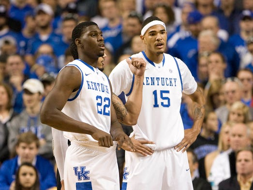 1. Kentucky Wildcats (21-12). Points: 767 (16 first-place votes). Previous ranking: not ranked.