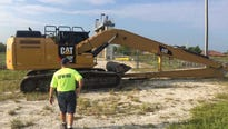 A water district crew showed up at the canal Wednesday morning and began setting up equipment for the cleanup.