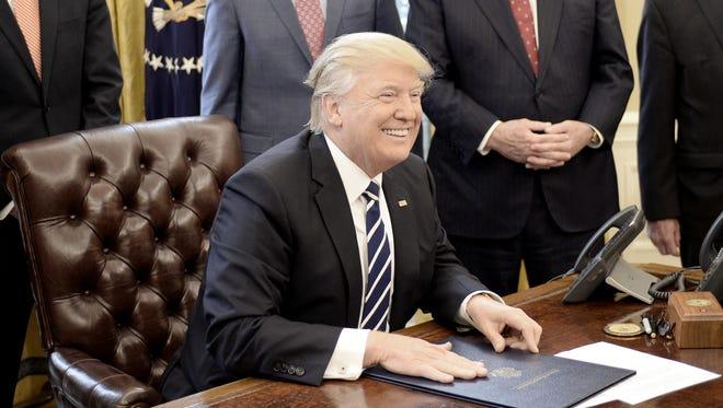 President Trump on Feb. 14, 2017.