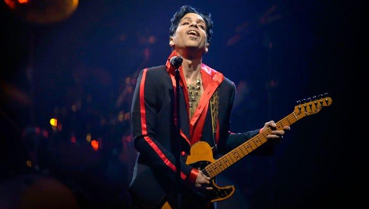 Prince in concert in Antwerp, Belgium, in November