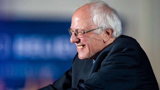 Democratic presidential candidate Sen. Bernie Sanders, I-Vt., speaks after his victory over former Secretary of State Hillary Clinton in Concord, New Hampshire on Tuesday, February 9, 2016.