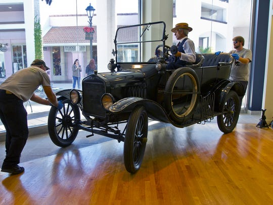 A 1919 Model T Ford was installed at the Edison Ford